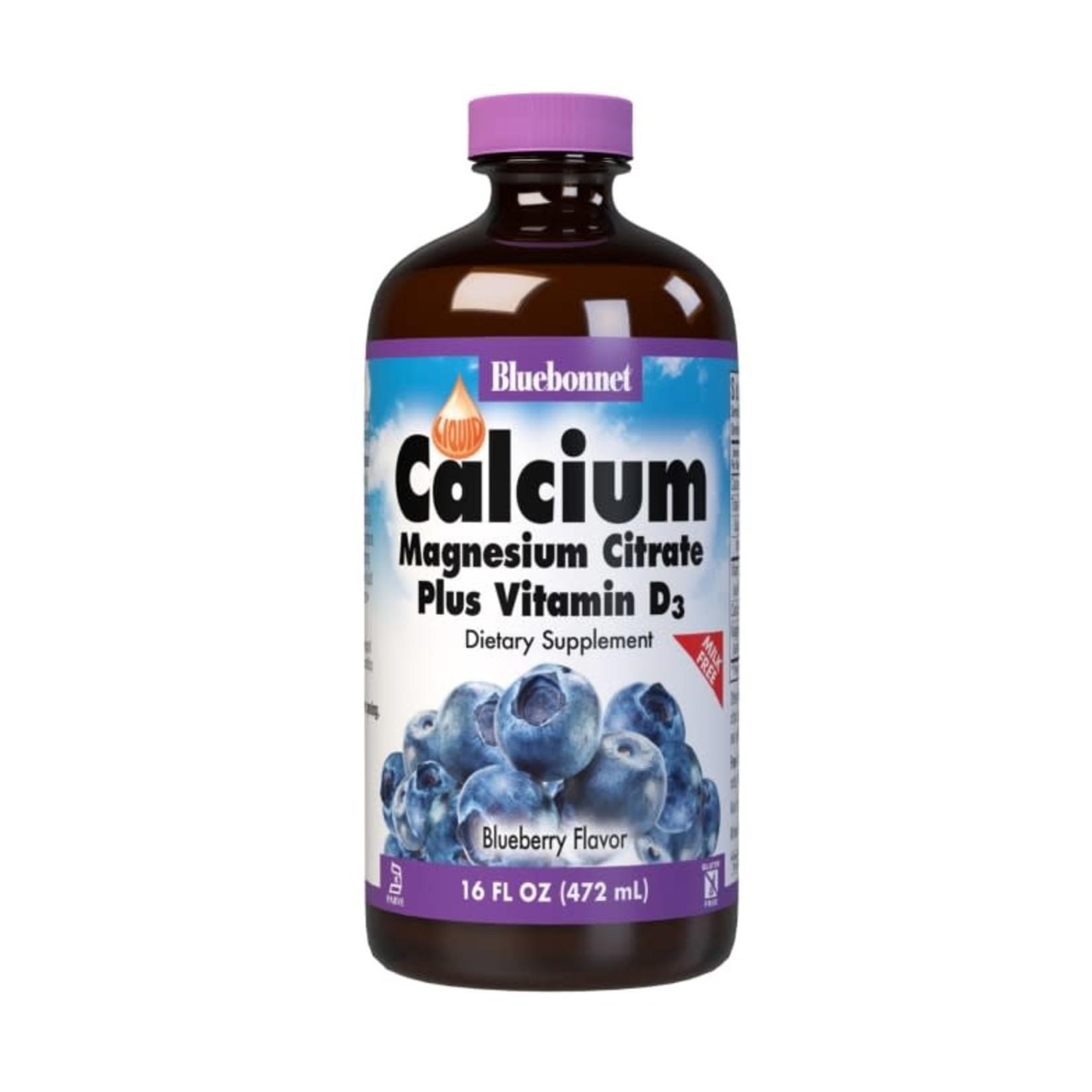 BlueBonnet Bluebonnet Liquid Calcium Magnesium Citrate +D3 Blueberry 16oz