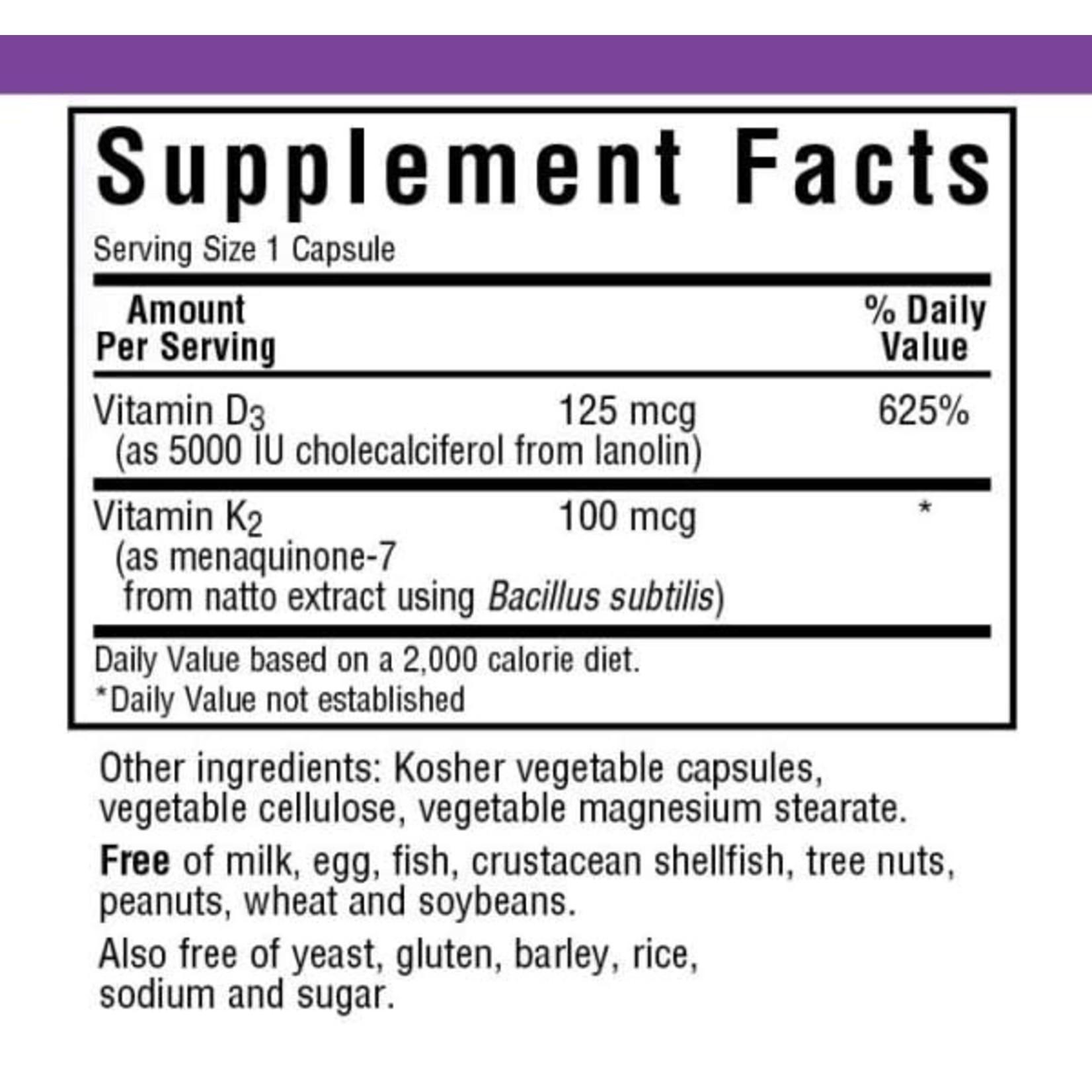 BlueBonnet Bluebonnet Vitamin D3 & K2 60 Capsules