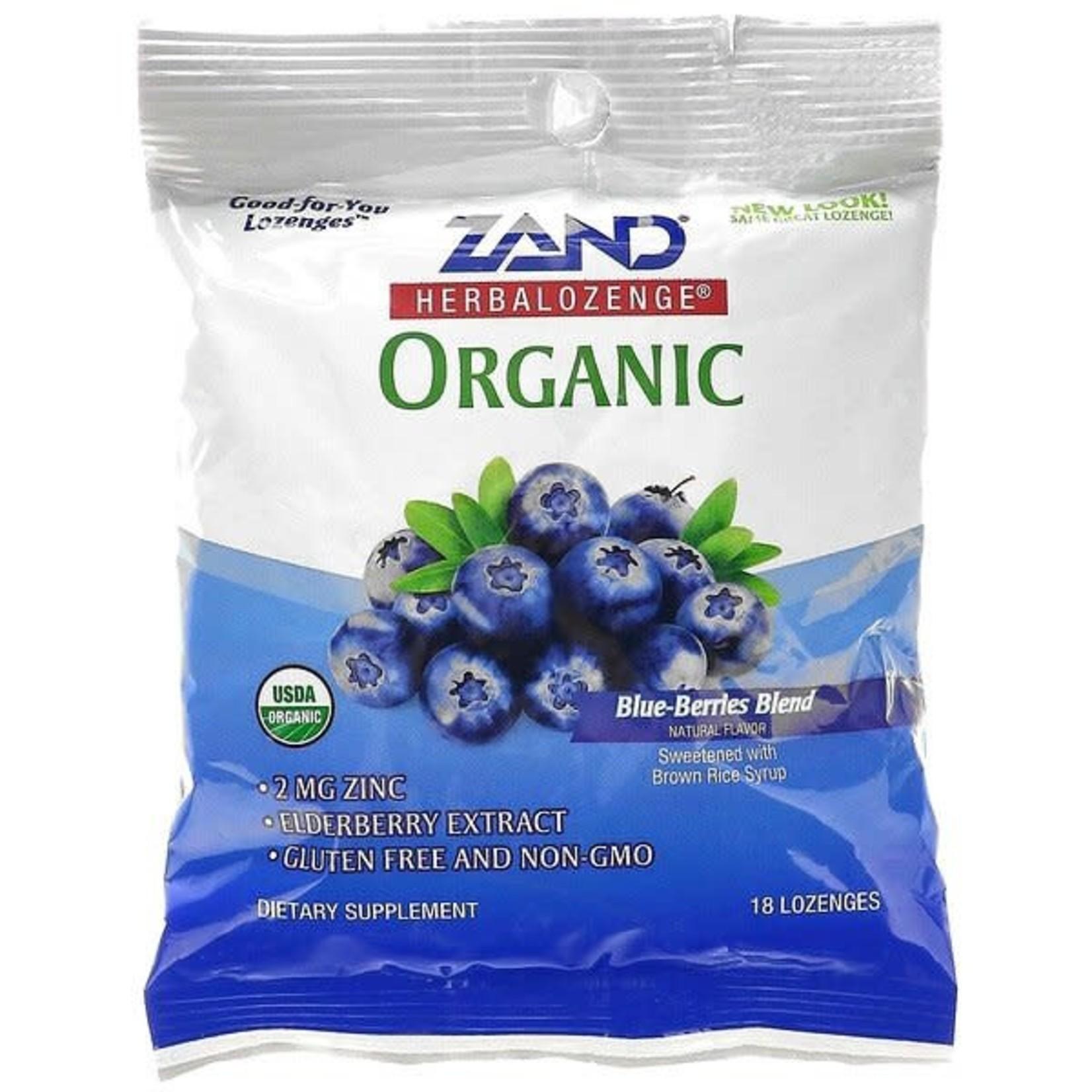 Zand Blueberry Elderberry Zinc Lozenges 18ct