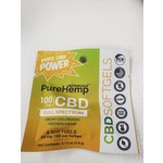 Pure Hemp Botanicals PHB Softgels Sample 100mg CBD capsule 4 count