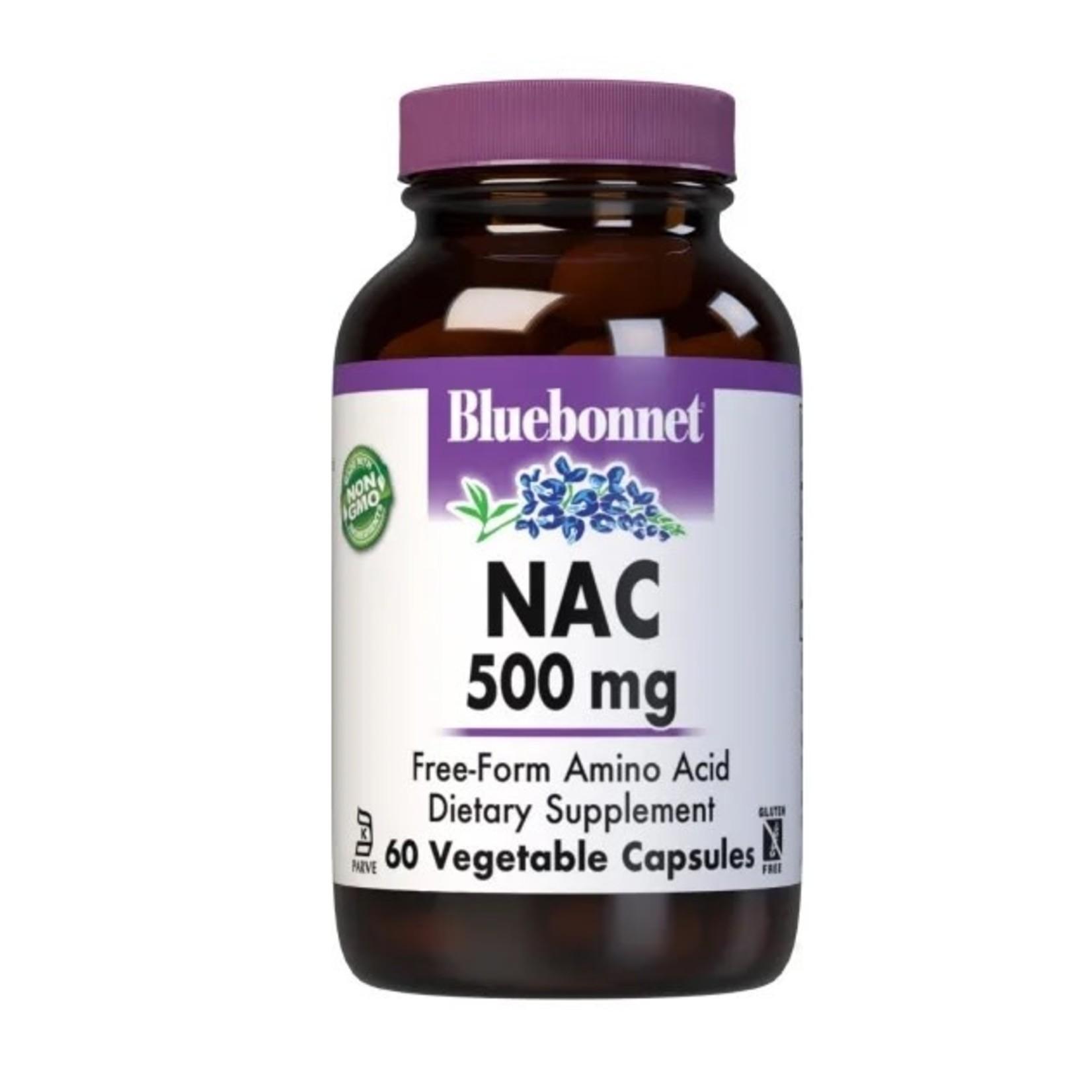 BlueBonnet Bluebonnet NAC 500mg 60 Vegetable Capsules