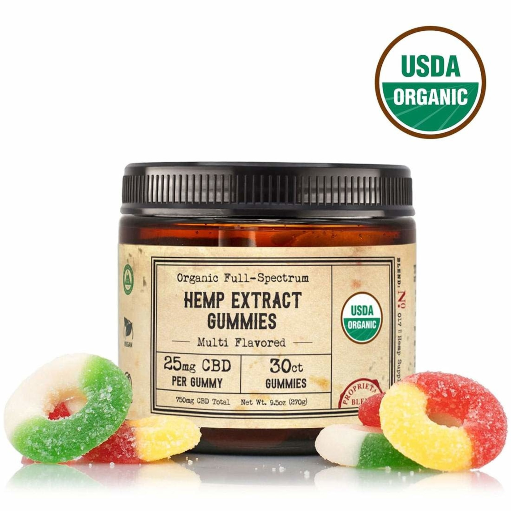 R+R R+R Hemp Extract Gummies 25mg 30ct