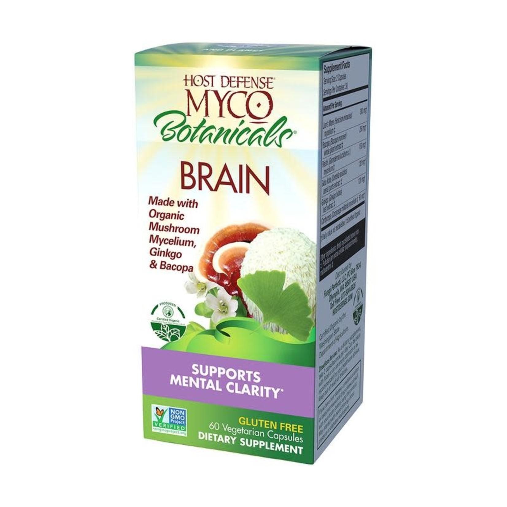 Host Defense HD Myco Botanicals Brain 60 Capsules
