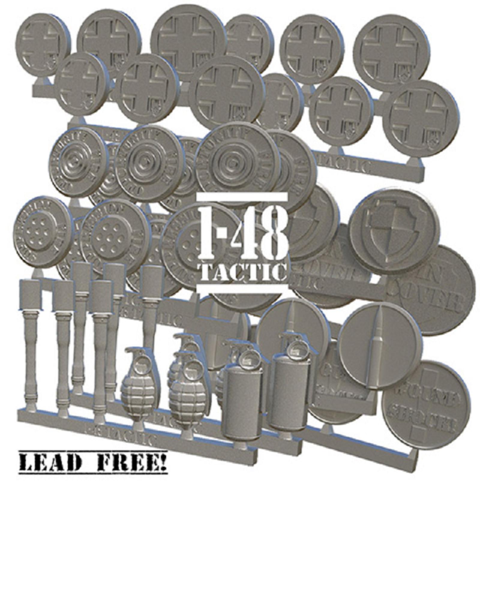 Baueda German metal token set