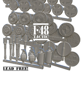 Baueda German metal token set