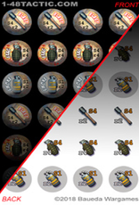 Baueda 1-48 Tactic Grenade Markers