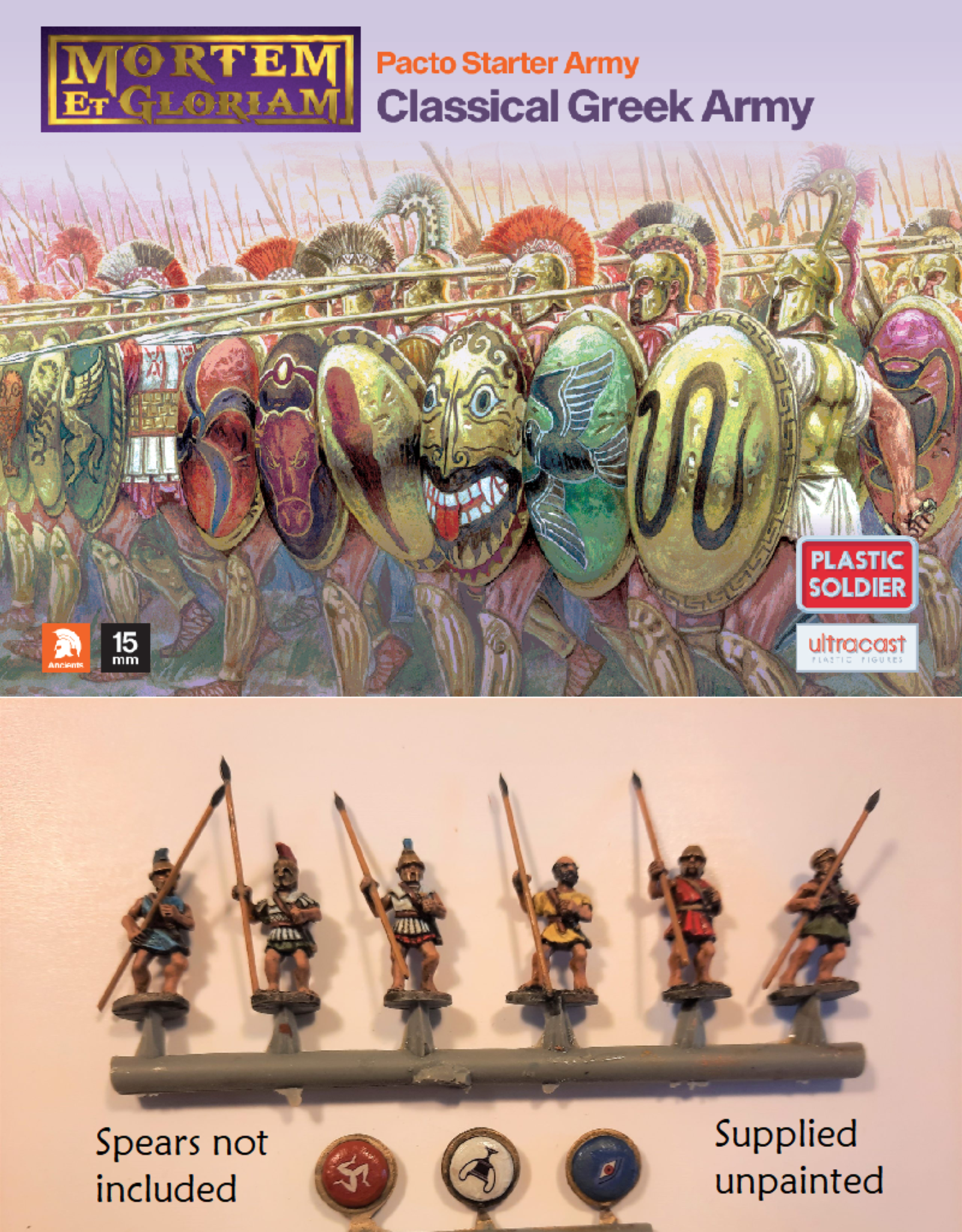 Plastic Soldier Company MeG Pacto Classical Greek starter army