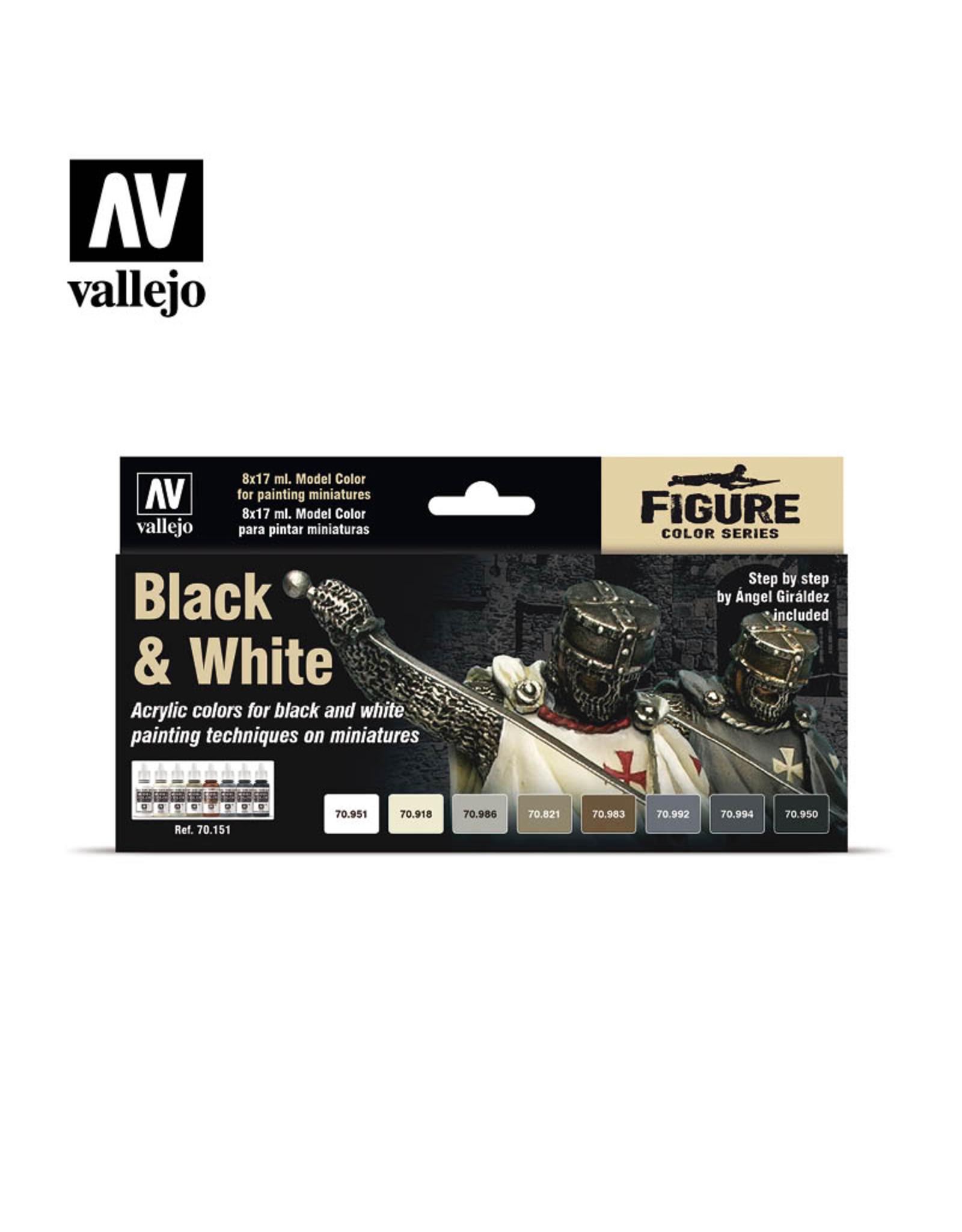 Vallejo Black & White Paint Set