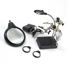Artesania Latina Third Hand with 3 magnifiers & 5 LED lights