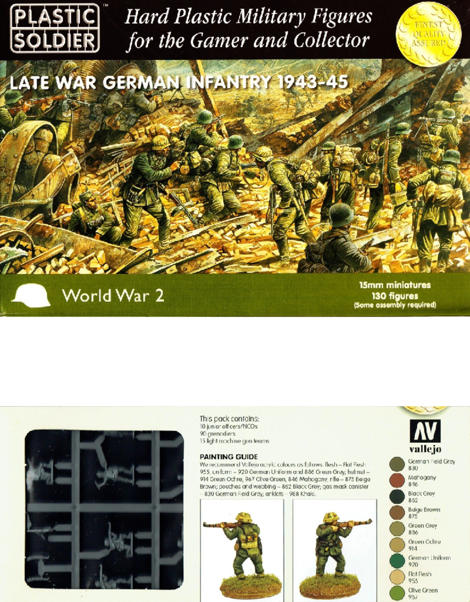 Plastic Soldier Company Late War German Infantry 1943-45