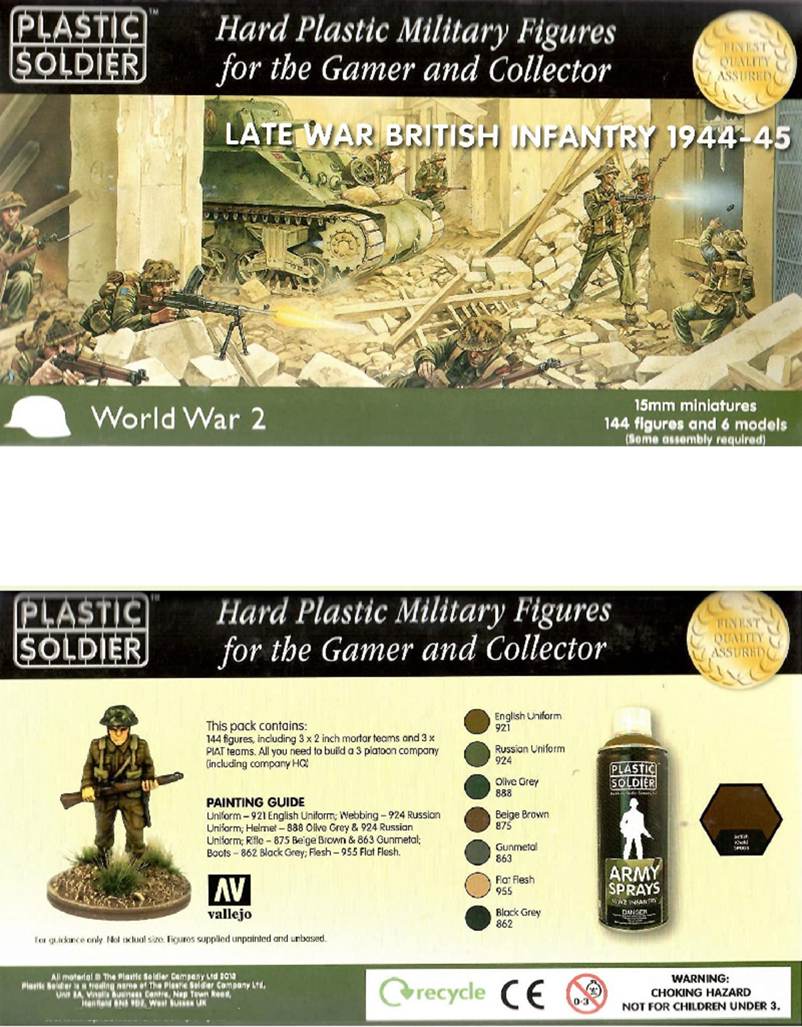 Plastic Soldier Company Late War British Infantry 1944-45