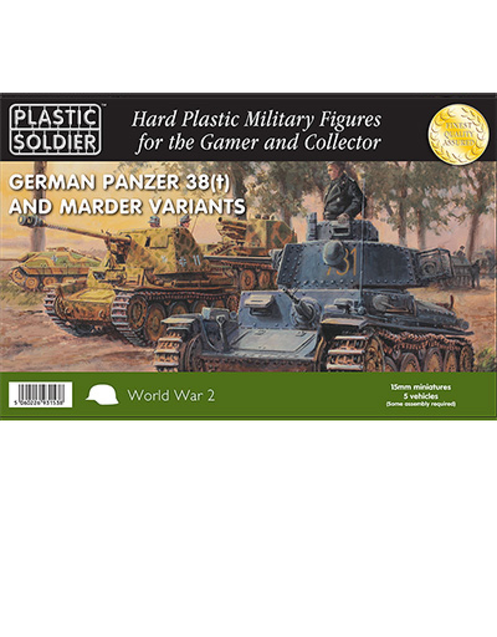 Plastic Soldier Company Panzer 38T with Marder options