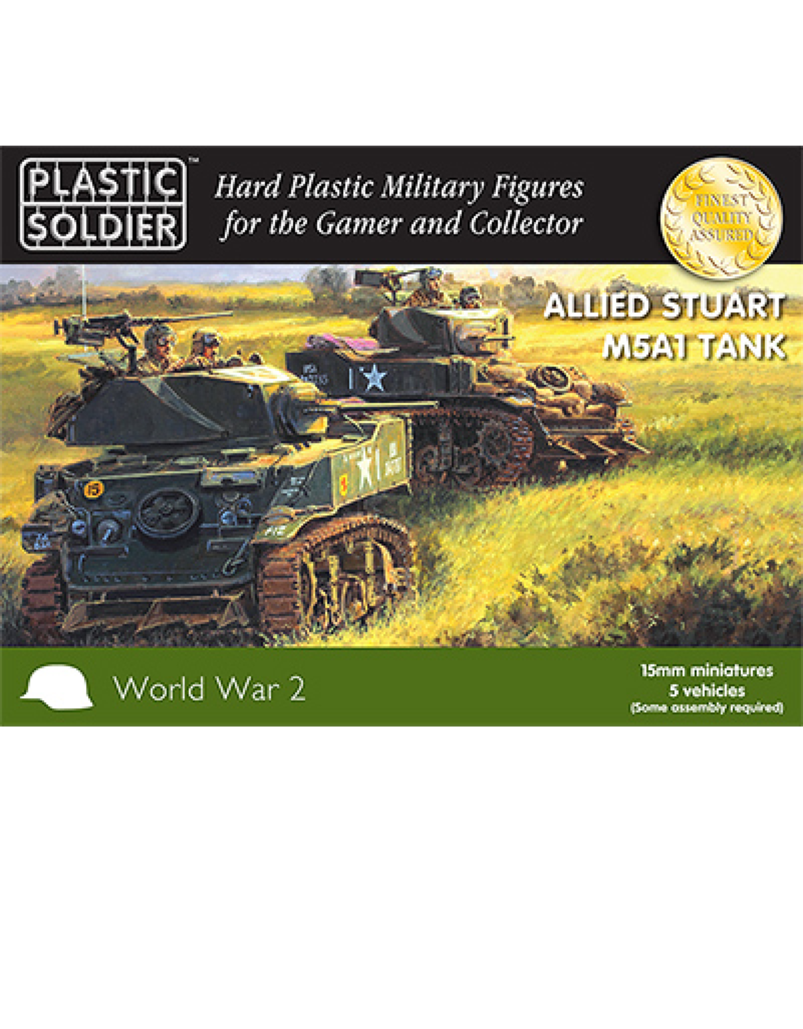 Plastic Soldier Company Allied M5A1 Stuart Tank