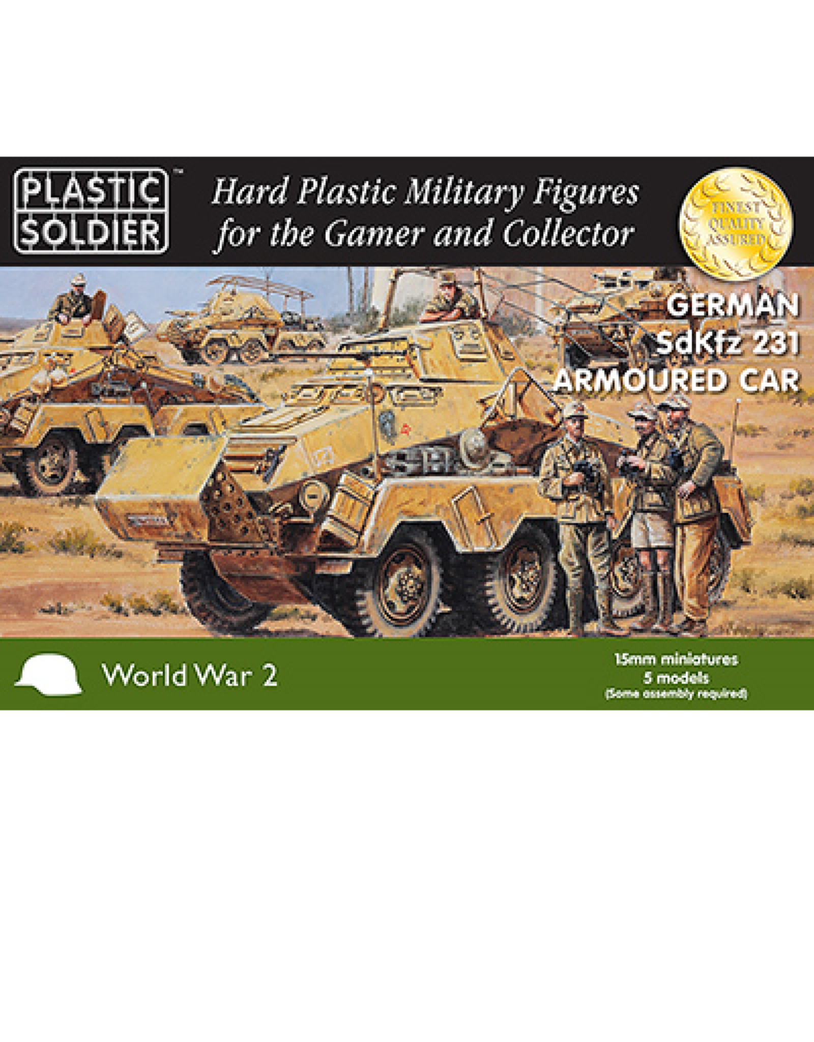 Plastic Soldier Company German SdKfz 231 8 rad Armoured Car