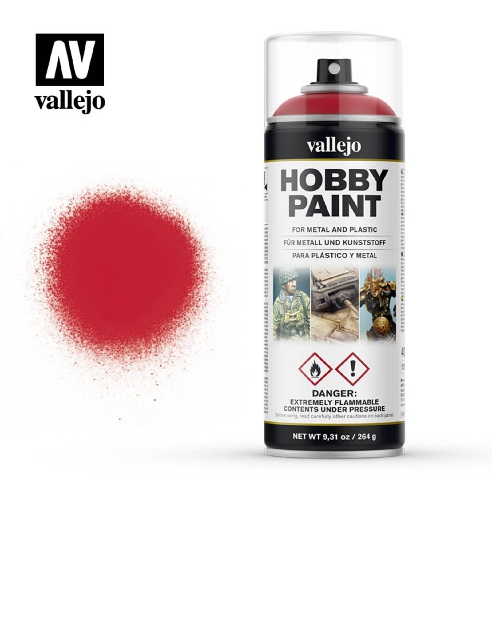 Vallejo Bloody Red spray paint
