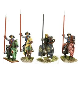 Mirliton CC21 - Knights in kettle helm & barded horse
