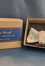 Vintage Map Bow Tie