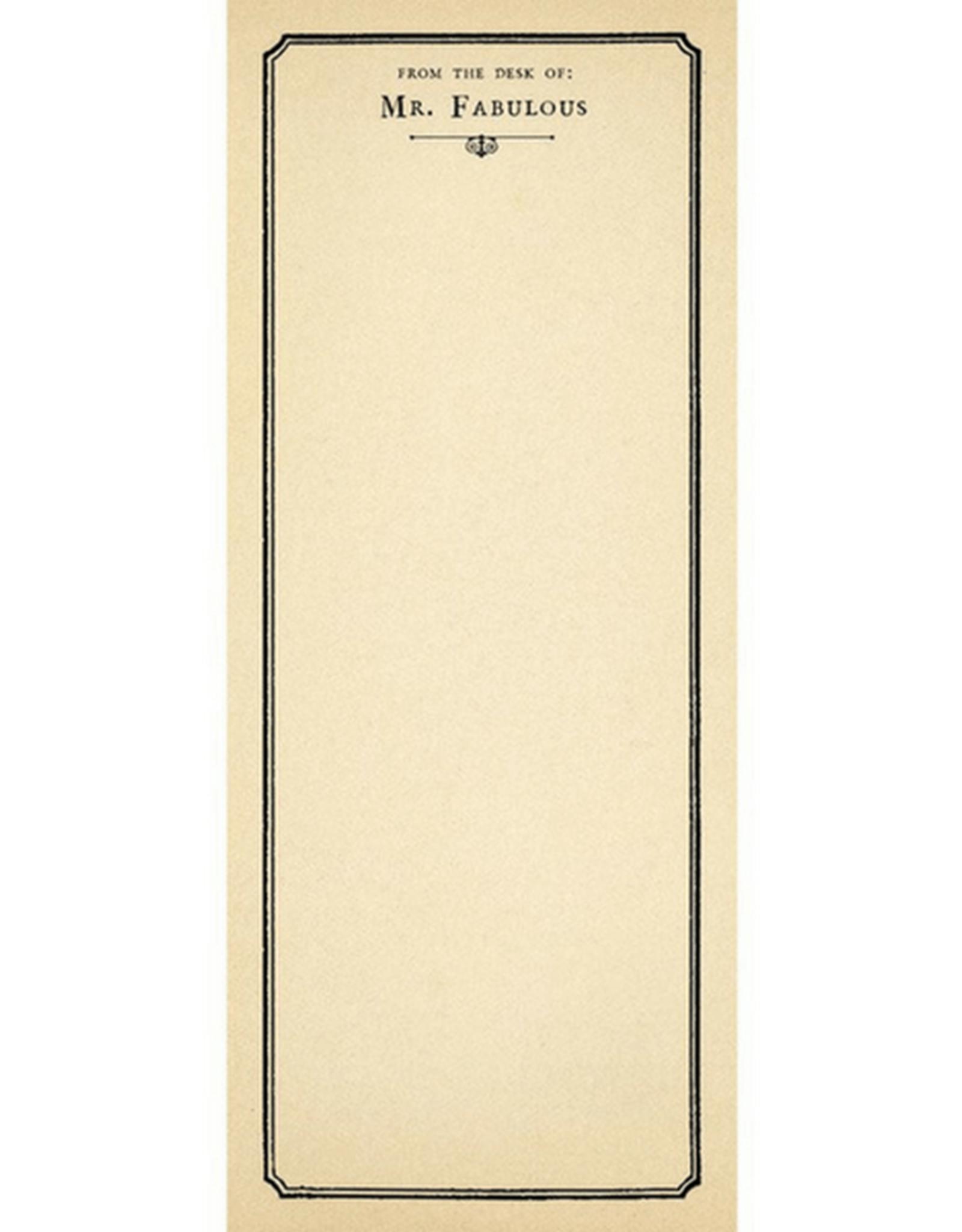 Mr.Fabulous Skinny Notepad