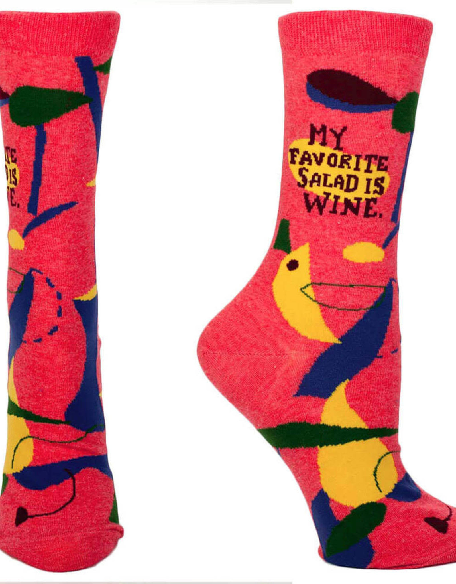 Favorite Salad is Wine Socks