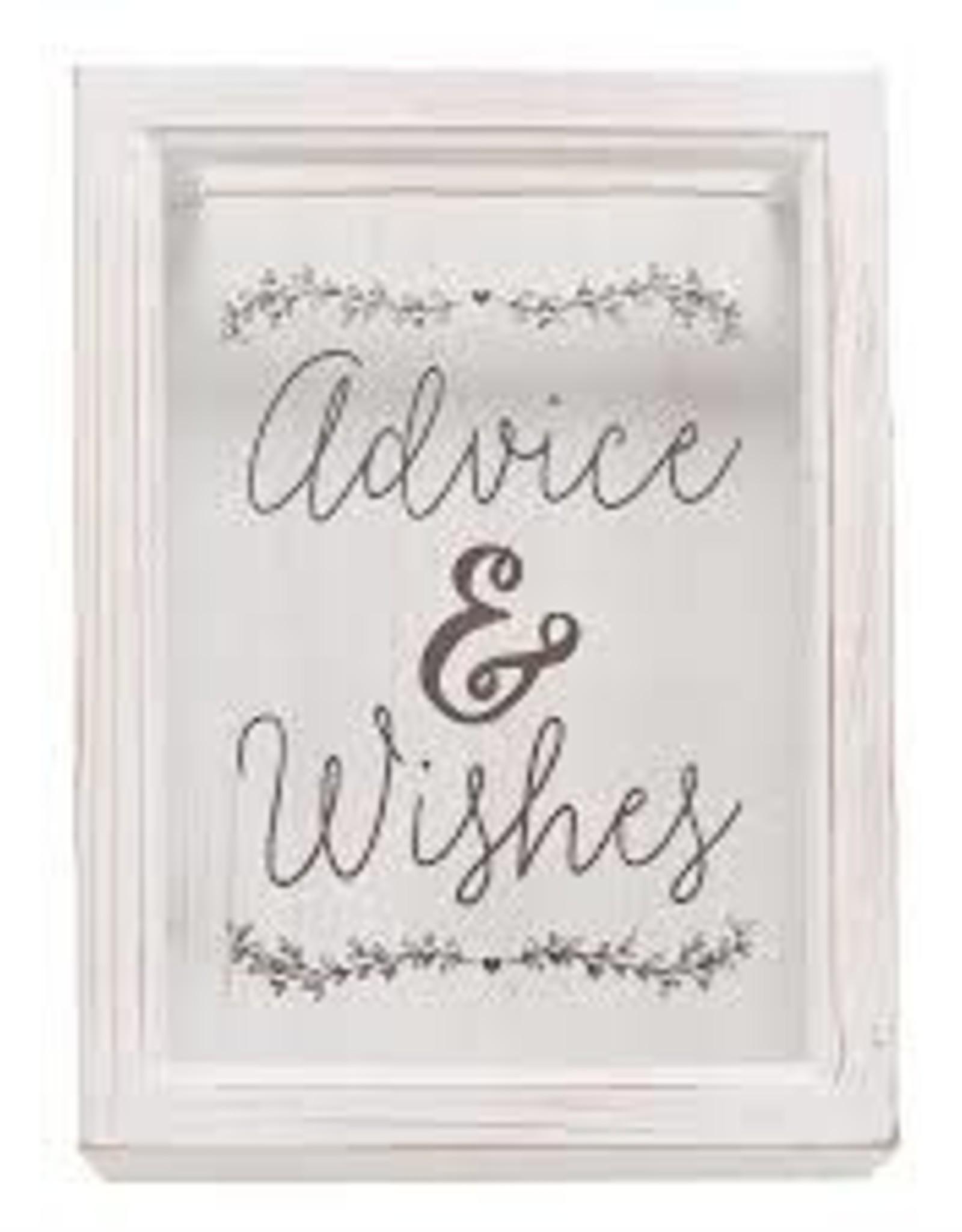 Advice & Wishes Keepsake Box