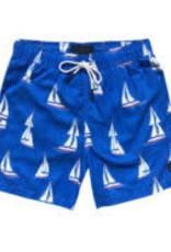 Men's Swim Trunks-Sailboat
