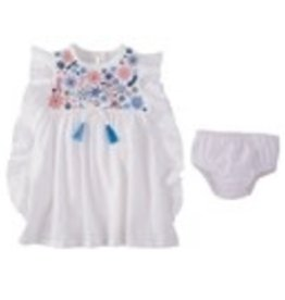 Floral Embroidery Dress 12-18mos
