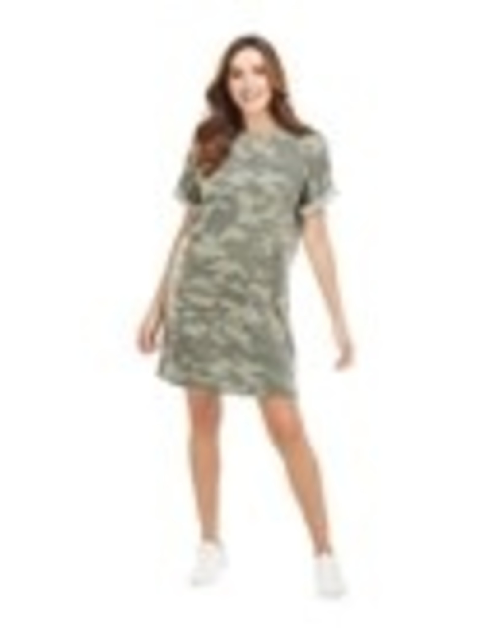 Green Camo Elliot T-Shirt Dress small