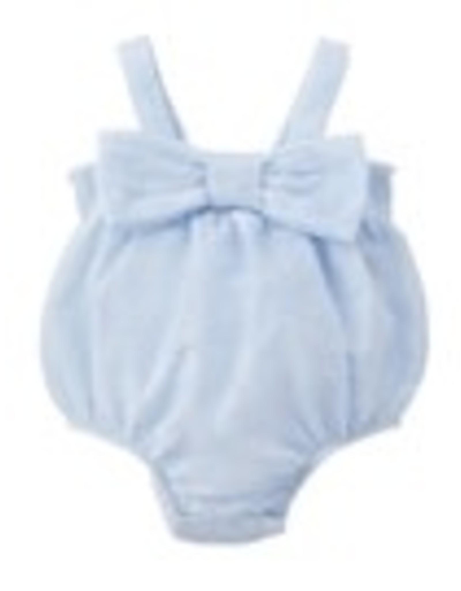 Seersucker Bow Swimsuit 12-18M