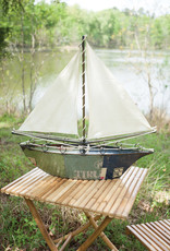 Kalalou Recycled Iron Sailboat