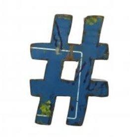 Blue Ocean Traders Reclaimed Sign Symbol #