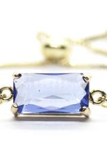 Salty Cali Deco Gem Blue Bolo - bracelet