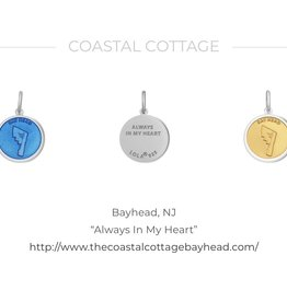 Bay Head LOLA sterling silver pendant-gold