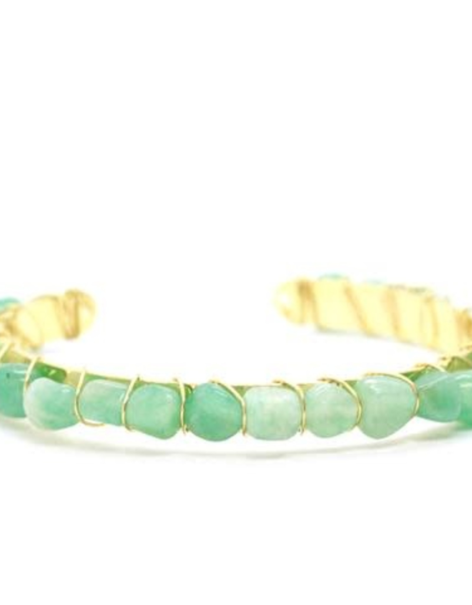 Salty Cali Green Gemstone Bangle