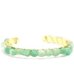 Salty Cali Green Gemstone Bangle