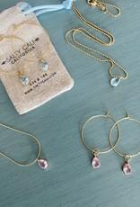 Salty Cali I Shine Aqua Necklace - Salty Pendants Dainty