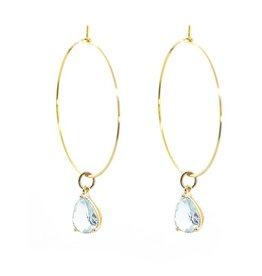 Salty Cali I Shine! Aqua hoops - Salty Pendants LG Hoops
