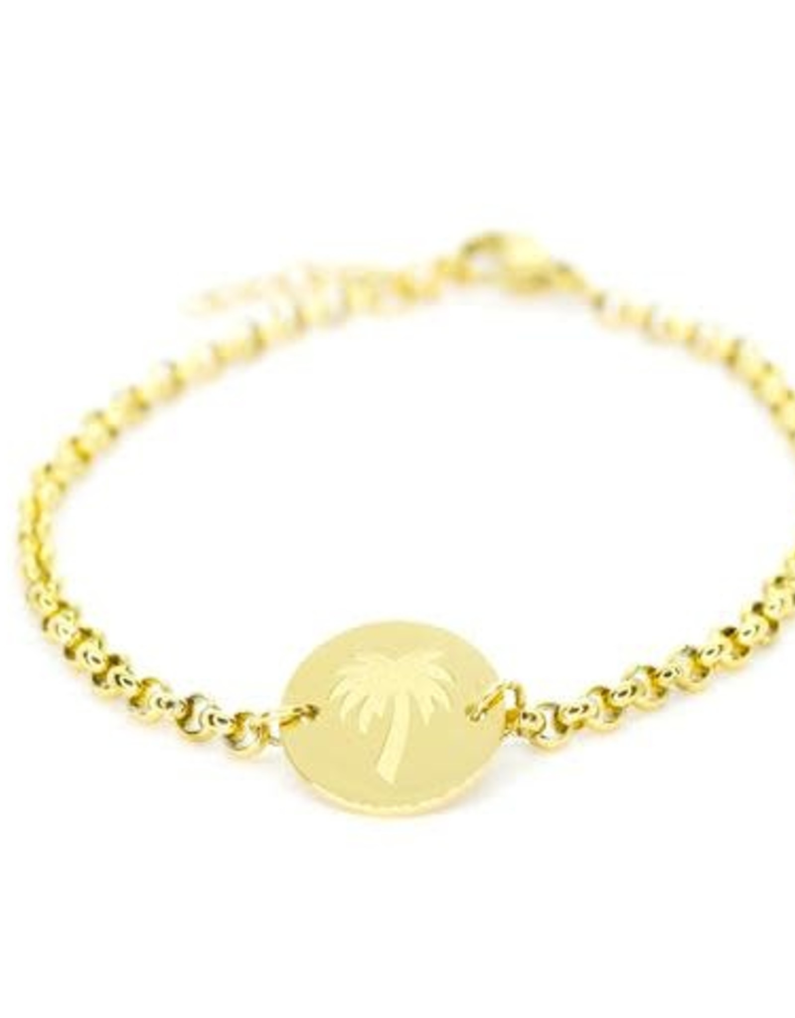 Salty Cali Lil Tokens Palm Bracelet - Silver Plated