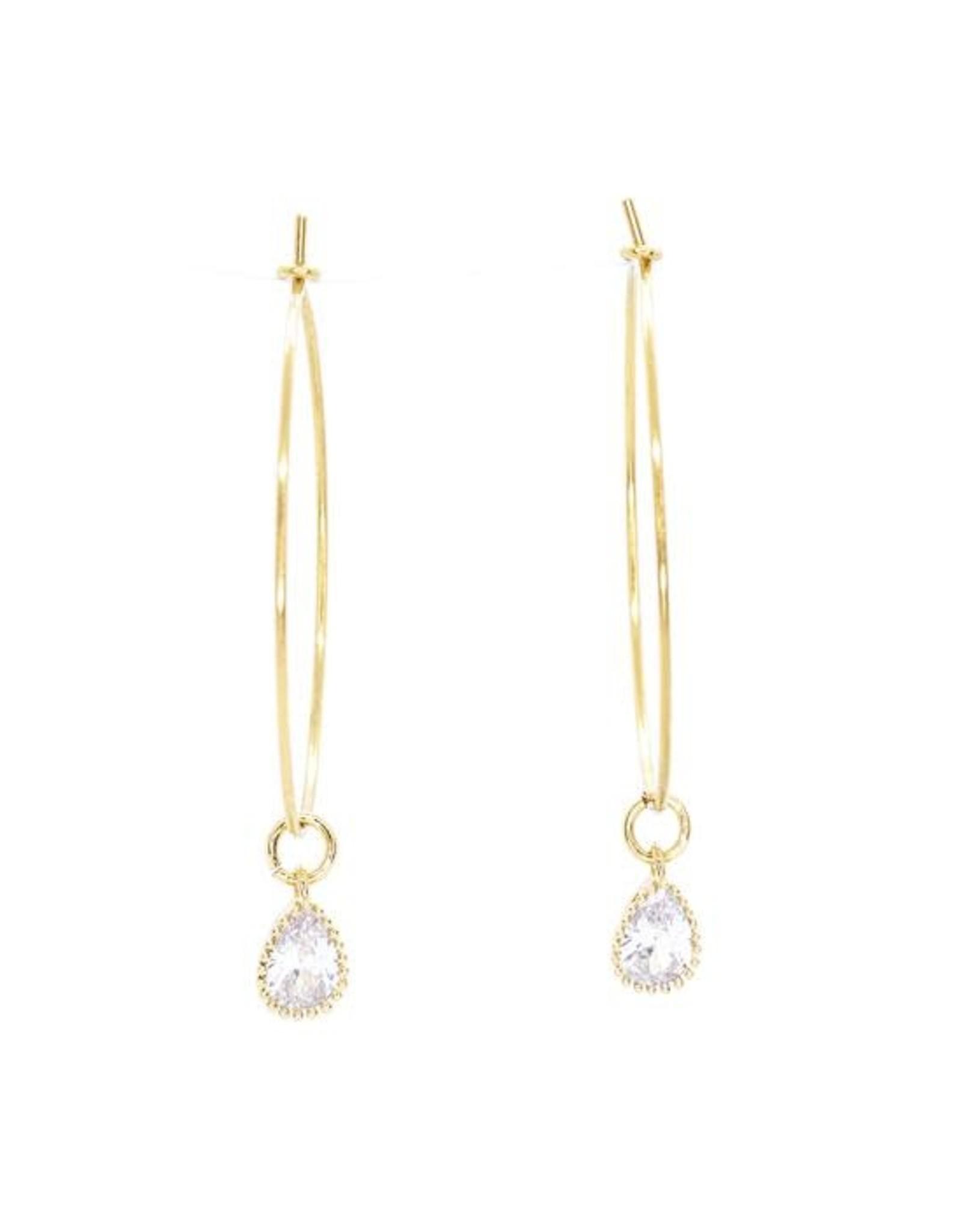 Salty Cali Shine Like a Diamond Hoops - Salty Pendants - gold plating