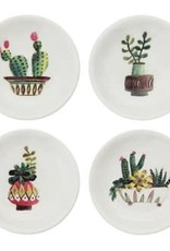 "Creative Co Op Round Dish Cactus 3"""