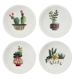 Creative Co Op Round Dish Cactus 3""