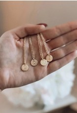 Letter Disc Necklace