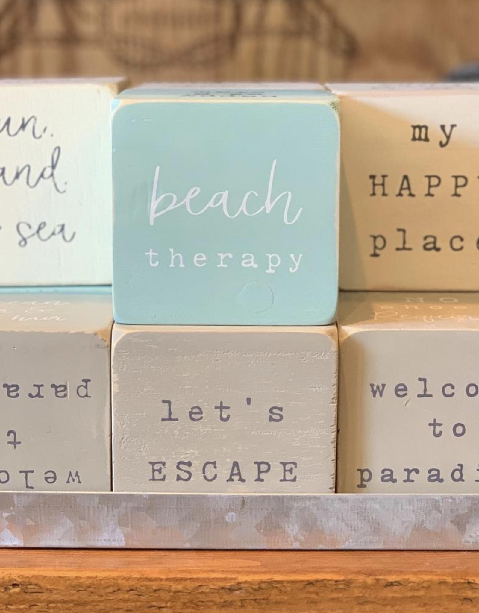gray beach sentiment block