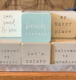 gray beach sentiment block