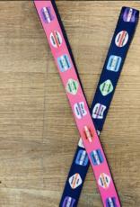 BeRibbon Blue Beach Badge Dog Leash - 5.5FT