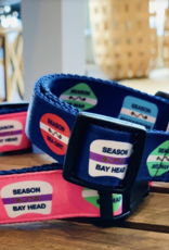 BeRibbon Blue Dog Collar S/M 12inch - 17inch