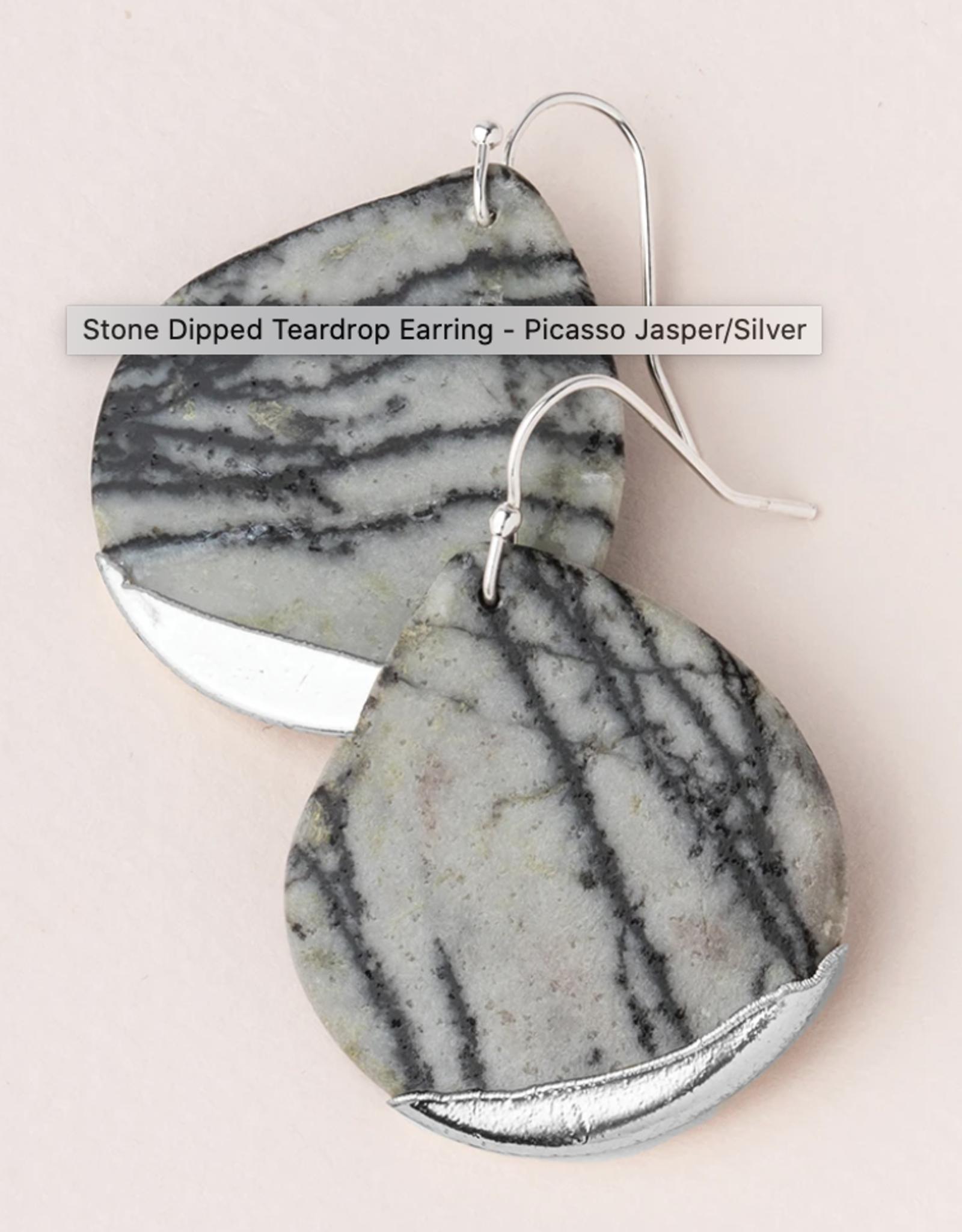 Scout Stone Dipped Teardrop Earring -