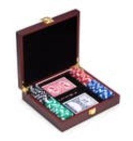 Bey-Berk Poker Set - Rosewood Case