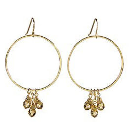 Santa Barbara Radiant Crystal Dangle Hoops