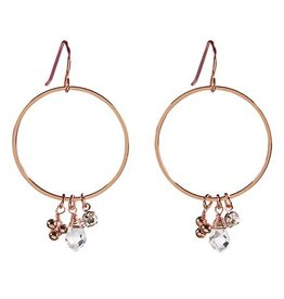 Santa Barbara Rose Gold Dangle Hoops