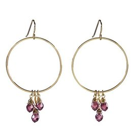 Santa Barbara Violet Dangle Hoops